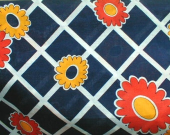 Flower Power Cotton Novelty Print great for Shirts 2.5 YD