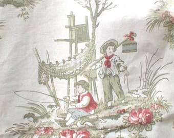 BRANDYWINE decorator FABRIC Kingsway Upholstery or Decor Romantic OldFashioned 4 Plus Yards