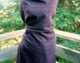 Knit Jacquard  Amazing 60s vintage Tube Knit for Skirt Dress Top etc Might be cotton and wool