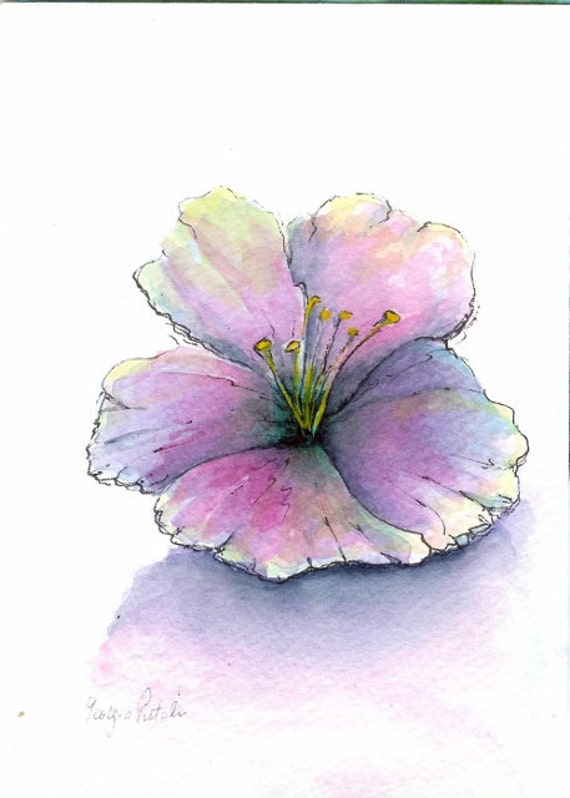 items similar to original watercolor painting simple