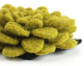 Chartreuse Green Flower - Reclaimed Wool Pin