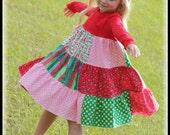 Lula Bee BOUTIQUE CUSTOM Holiday Christmas Tee T-Shirt Twirl Dress 2t 3t 4 5 Lil Peas SALE