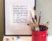 8x10 print - Van Gogh Quote