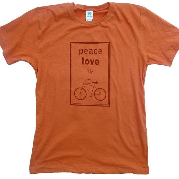 Peace, Love and Bikes Organic Cotton T-shirt