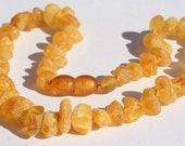 Honey UNPOLISHED SEA AMBER teething necklace. For maximum pain relief.