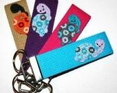 BRIGHT PINK Kawaii Turtle Key Fob, Key Chain