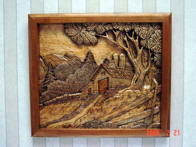 Items similar to barn silo relief carving on etsy