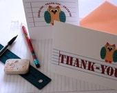 Owl Thank-You Cards - Set of 6