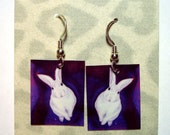 Bunny Rabbit Earrings - Laminated Paper with Surgical Steel French Hooks - Ranlett