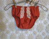 Bikini panties Hot Orange vintage  Vanity Fair  60s