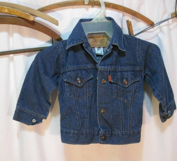 Levis denim vintage kids 70s jacket