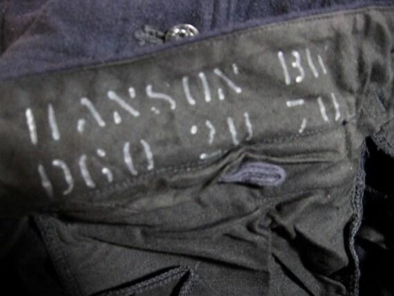 Navy Sailor pants 1960s vintage wool Bell Bottom  31 31