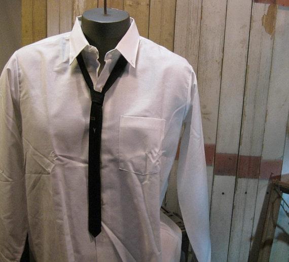 1960s skinny ties  Vintage Mens Ties brocade black satin  4 of them