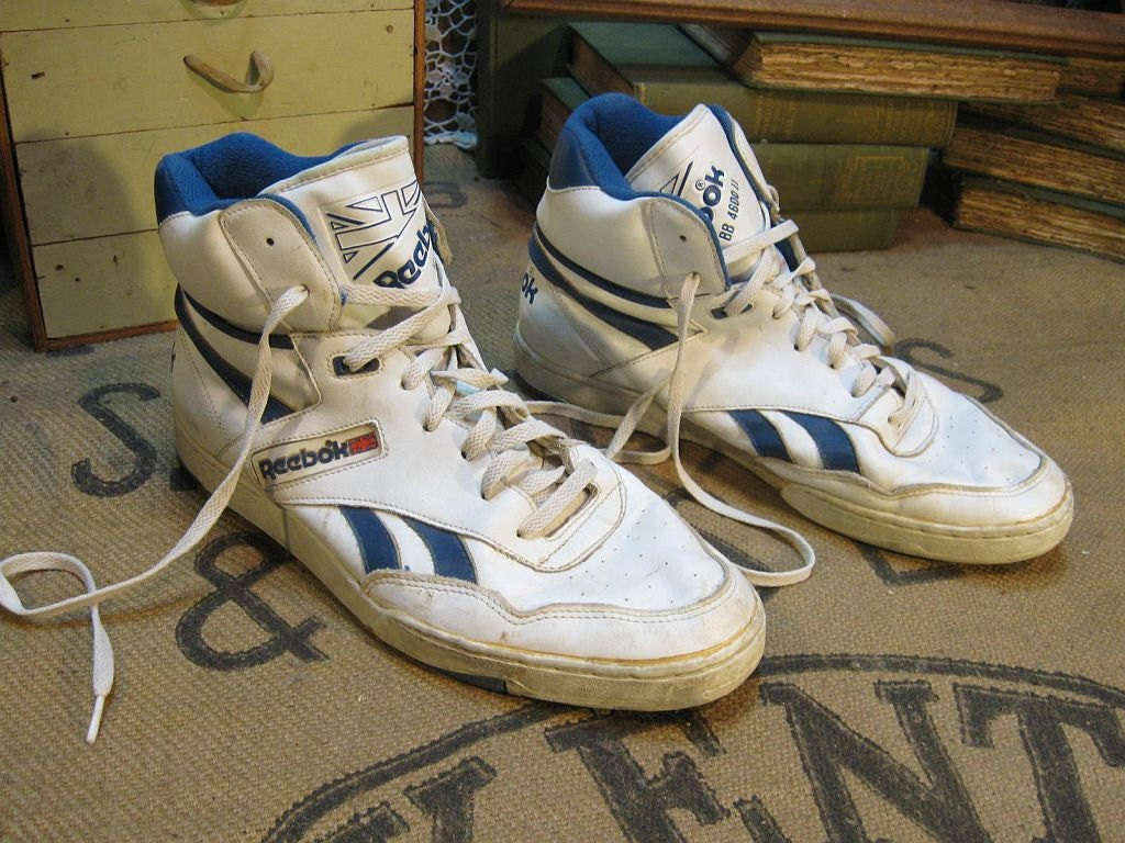 Reebok Hi top BB4600 Sneakers 80s vintage shoes 12