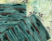 Hand Dyed Fingerless Gloves Hand Knit Arm Warmers Merino Wool - Spruce - Deep Teal