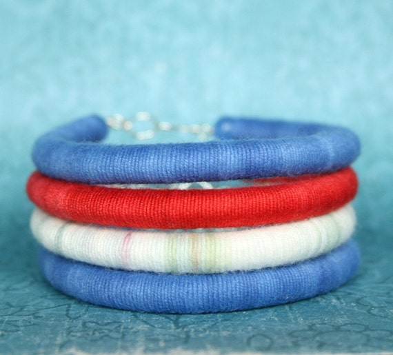 Soft Cotton Bracelet in Hand Dyed Yarn