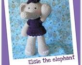 Crochet pattern Amigurumi elephant - Elsie