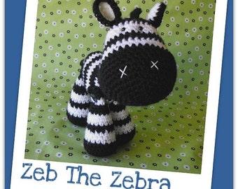 Crochet pattern Amigurumi zebra - Zeb