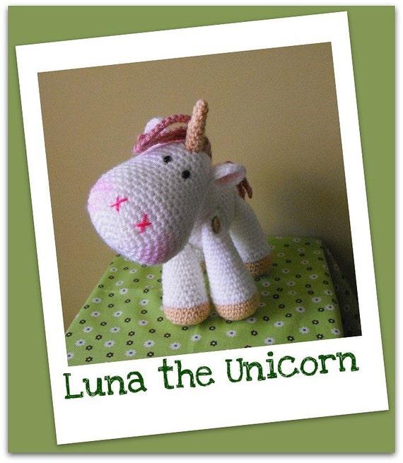 Amigurumi Unicornio Gru : Luna amigurumi crochet pdf pattern