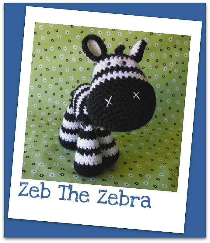 Amigurumi Zebra Crochet Pattern : Crochet pattern Amigurumi zebra Zeb by madisonscraftnook ...