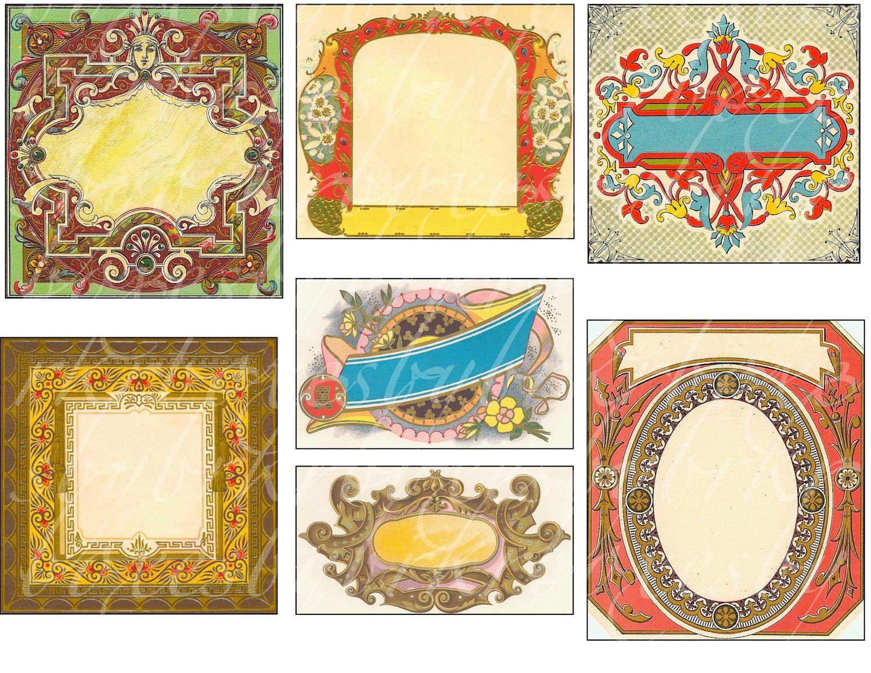 Blank Printable Tags: 46 Antique And Vintage Blank Labels Printable By Boxesbybrkr