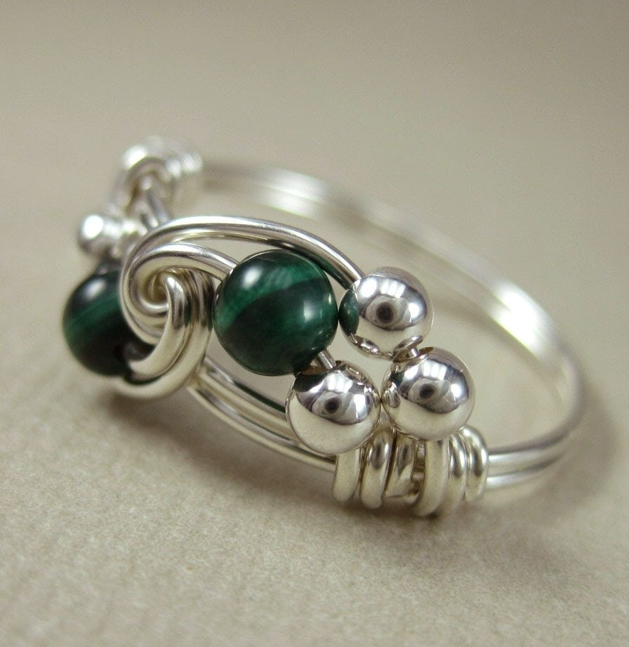 Snap Sale Large Malachite Wire Wrap Photos On Pinterest Handmade Sterling Silver Tiger Eye Ring By Jandsgems Wrapped Duet Any Size