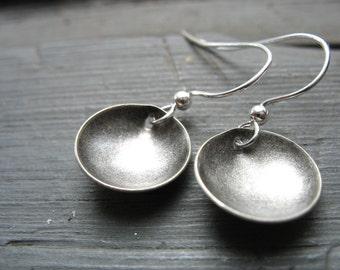 Silver Dome Earrings , Dangle Earrings, Silver Jewelry, Handmade Silver Earrings, Silver Jewelry, Dome Earrings