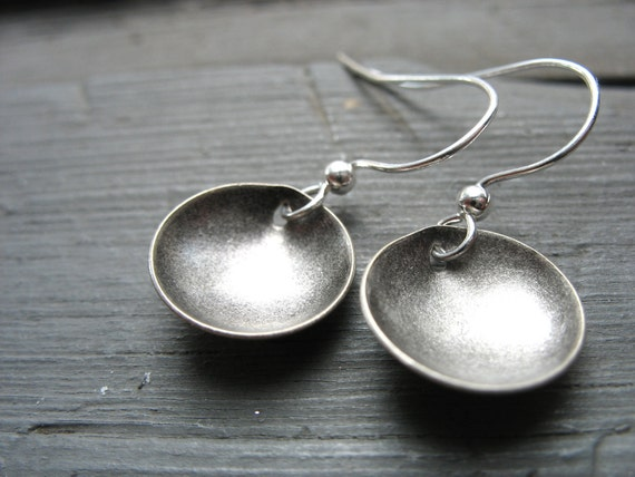Silver Dome Earrings , Dangle Earrings, Silver Jewelry, Handmade Silver Earrings, Silver Jewelry, Dome Earrings