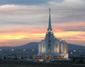 8x10 Photograph - House of the Lord - Rexburg, Idaho LDS Temple
