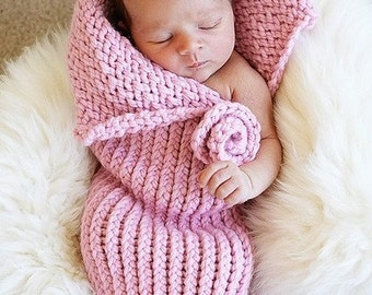 Newborn Baby Cocoon Pink Cozy Pod Photography Prop