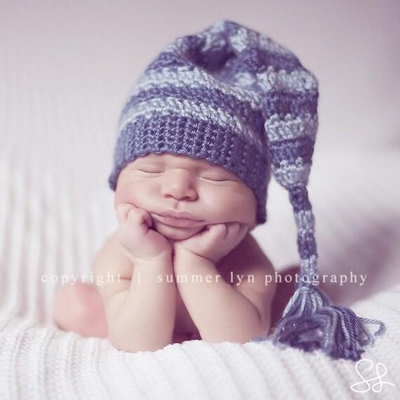 Knit Newborn Baby Elf Hat Photography Prop