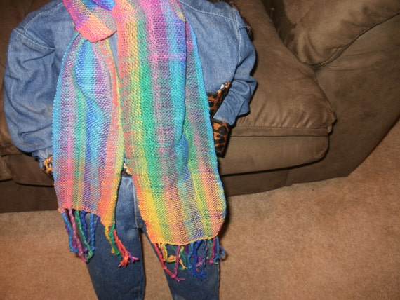 Gorgeous Hand Woven colorful scarf