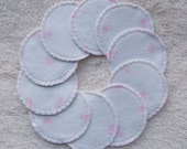 Make-up Remover Pads Washable Reusable Cotton Rounds Pink Flowers