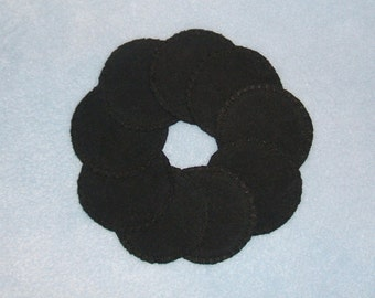 Black Reusable Cotton Rounds Cosmetic Pads