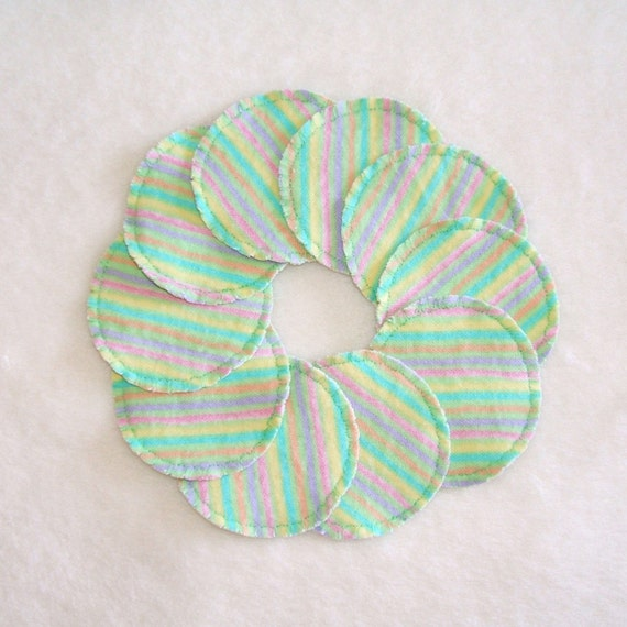 Cotton Rounds Make-up Remover Pads multi stripe Washable Reusable cosmetic