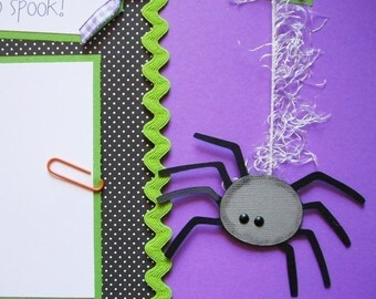 Premade 12x12 Scrapbook Pages - BaBy first year layout -- BABY'S FIRST HALLOWEEN -- baby girl, baby boy, 1st Halloween, fall, scrapbooking