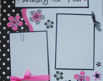WAITING FOR YOU 12x12 Premade Scrapbook Pages PreGnaNCy ExPecTinG BaBY