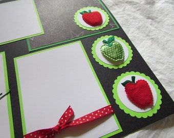 SCHOOL IS COOL 12x12 Premade Scrapbook Pages
