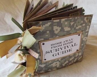 SURVIVAL GUIDE MiLiTaRy DePLoYmEnT Paper Bag Scrapbook Album