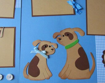 BABY'S first FATHER'S DAY baby boy 12x12 Premade Scrapbook Pages