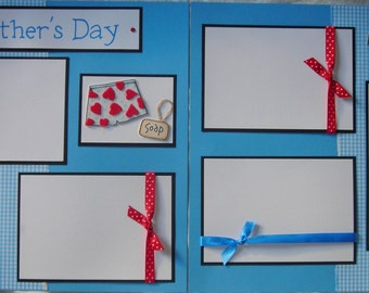 fun FATHERS DAY 12x12 Premade Scrapbook Pages
