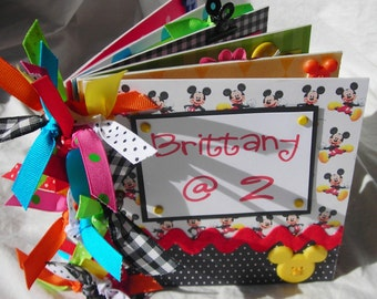 YOuR ChOiCe personalized Mickey Mouse DiSNeY premade scrapbook CHIPBOARD ALBUM