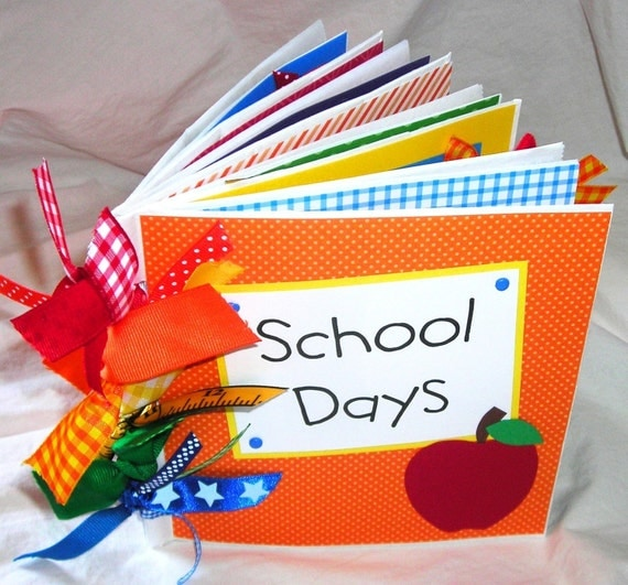 SCHOOL DAYS PaPeR BaG premade Scrapbook Album