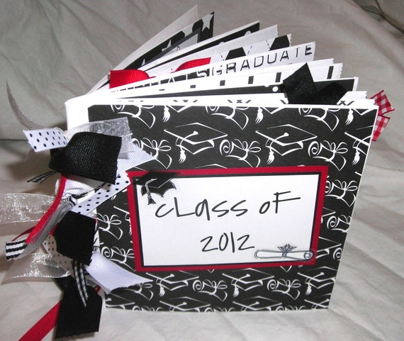 CLASS OF 2013 Graduation PaPeR BaG Premade Scrapbook Album -- your choice of year and accent color