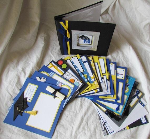 Graduation Scrapbook Premade Custom GRADUATION 8x8 ALBUM