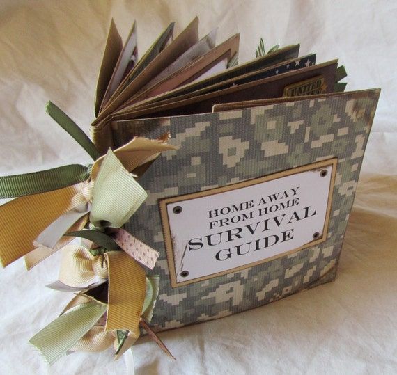 SURVIVAL GUIDE MiLiTaRy DePLoYmEnT Paper Bag Scrapbook Album