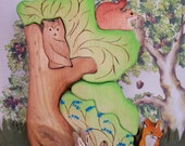 Waldorf Wooden Nature Toy Puzzle Stacker - Forrest Animals - 9 pc set