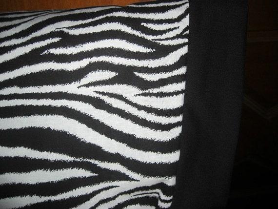 Travel Size Pillow Cases    Zebra  Print