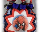 Black Friday FREE Shipping Spiderman Handmade Quilted Childrens Ball Christmas Ornament