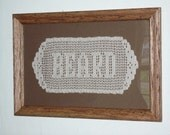 5 LETTERS Hand-crocheted Name Doily